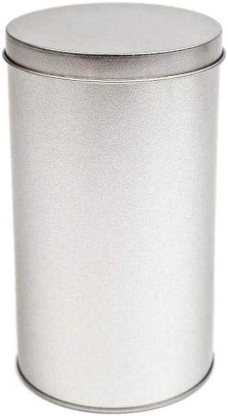 Perfekto24 Caja de Metal Caja Redonda con Tapa, Caja de Metal de 8 x 14 cm Grande, Redonda, vacía, Mate, Caja de Almacenamiento, Lata de Lata, Lata de Almacenamiento Universal.: Amazon.es: Hogar