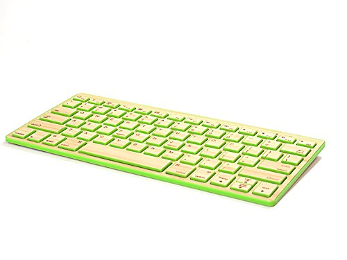 Impecca Bamboo Bluetooth Keyboard KBB78BTG