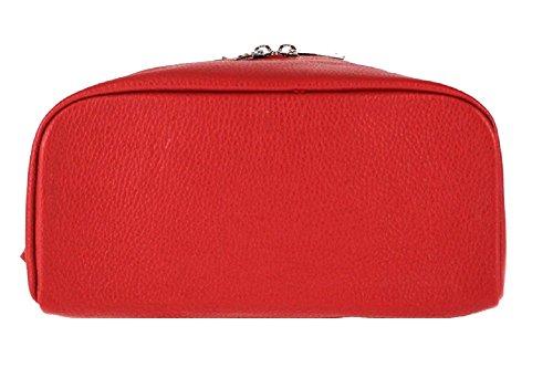 Cuero Carele Donna Zainetto Mujer Rojo Mochila Para A Borsa Bolso Bottega De fdH8CC