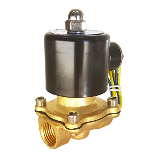HFS (R) 110v Ac or 12v Dc Electric Solenoid Valve Water Air Gas, Fuels N/c - 1/4'', 1/2'', 3/4'', 1'' NPT Available (12V DC 3/4'' NPT) by HFS (Image #1)