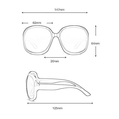 Star C Mode Des Soleil de rétro soleil lunettes Protection Frame de UV Femme Large Lunettes polarisée Sport 1zUwa1Sq