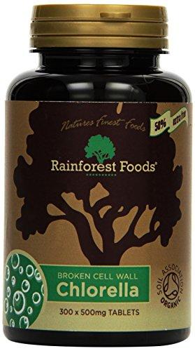 Rainforest Foods Chlorella-Tabletten 300 X 500Mg, 1er Pack (1 x 150 g) - Bio