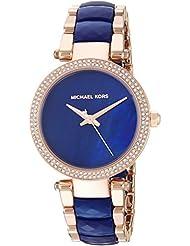 Michael Kors Womens Mini Parker Quartz Stainless Steel Casual Watch, Color:Rose Gold-Toned (Model: MK6527)