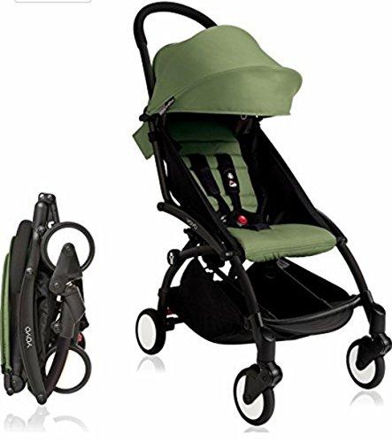 Mint Stroller - BabyZen Yoyo+ Stroller Black Frame (Peppermint)