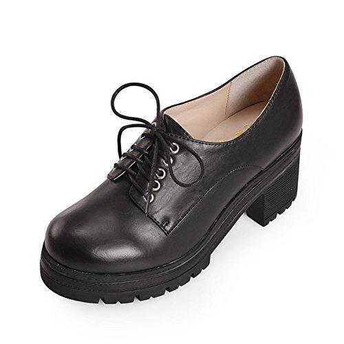 La versión coreana de zapatos de plataforma/Zapatos de mujer/Los tacones altos plataforma en el otoño/Encaje de zapatos casual C