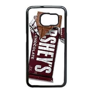 Hershey Bar Chocolate Bar 1 plastic funda Samsung Galaxy S6 Edge cell phone case funda black cell phone case funda cover ALILIZHIA15478