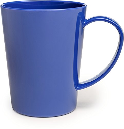 Carlisle 4306814 Break-Resistant Tritan Coffee Mug, 12 oz, Ocean Blue