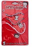 Lot de 3 bracelets Betty Boop chien Pudgy - Bijoux fantaisie en plastique avec breloques