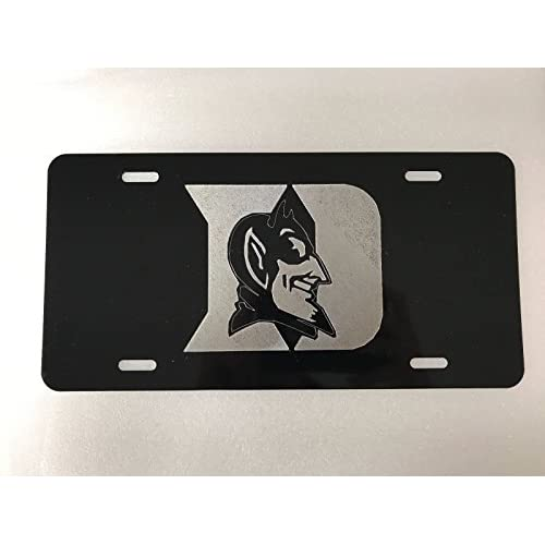 Top Diamond Etched Duke Logo Car Tag on Aluminum License Plate supplier