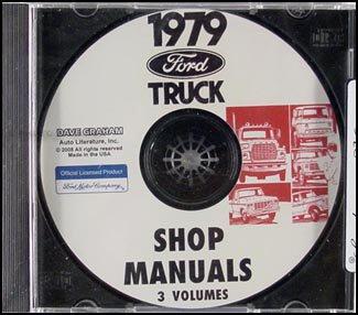 1979 Ford Truck CD Repair Shop Manual 79 F100-350 Pickup Bronco and Van