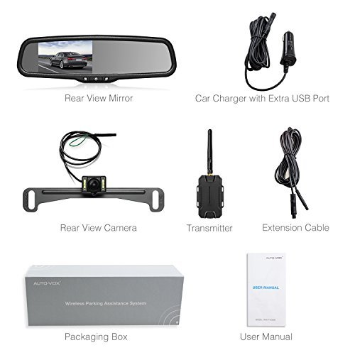 AUTO VOX Wireless Reverse Camera Kit Car Backup Camera with Rear View Mirror Monitor and IP 68 Waterproof Reversing Camera LED Super Night Vision Back Up Car Camera Kit Easy Installation by AUTO-VOX (Image #7)