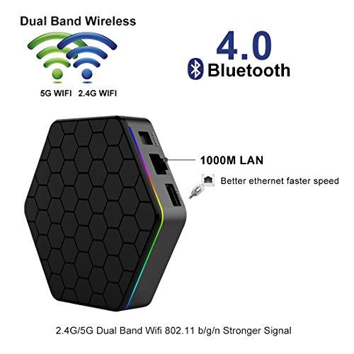 IVSUN T95Z PLUS Android 7.1 TV BOX, Amlogic S912 Octa Core 2GB RAM 16GB ROM Support Dual WiFi 2.4G/5GHz 1000M LAN BT 4.0 UHD 4K 3D Smart TV Boxes with Mini Wireless Keyboard (BACKLIT) by IVSUN (Image #5)