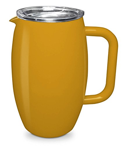 (True North Stainless Steel Pitcher, 50 oz | Double Wall Vacuum Insulated (Sport Yellow))