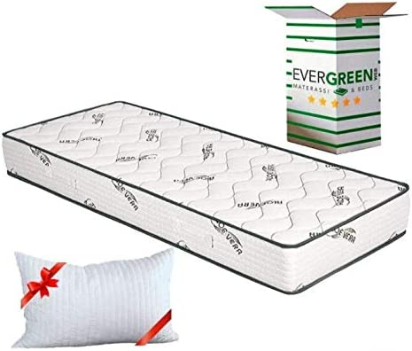 EvergreenWeb - Colchón Individual 120x190 de Espuma de 20 cm de Altura con Tejido en Aloe Vera para Cama Individual - Transpirable y Máximo Confort - ...