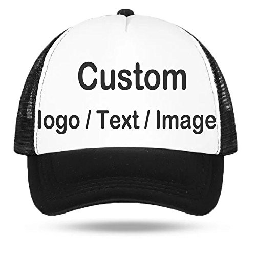 Personalized Unisex Mesh Baseball Cap - Custom Your Own Design Logo Text Photo, Women Men Fashion Hip-hop Dad Trucker Hat Adjustable Snapback Low Profile Sports Golf Fishing Baseball Sun Hat Cap Gift