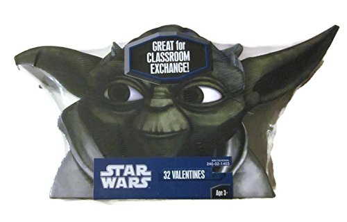 (Yoda 32 Valentines and Card Exchange Box Star)