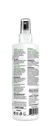 John Paul Pet JPS6901 Tea Tree Conditioning Spray for Dogs and Cats, Soothes and Conditions, 8-Ounce