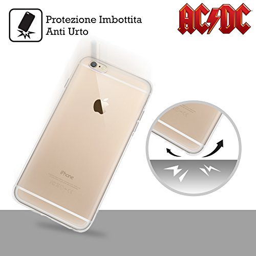 Officiel AC/DC ACDC Cravate Iconique Étui Coque en Gel molle pour Apple iPhone 6 / 6s