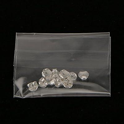 Plata 10 Piezas Plata Esterlina Partes Posteriores Del Pendiente Del O/ído Tuercas Ganar Accesseries 4mm