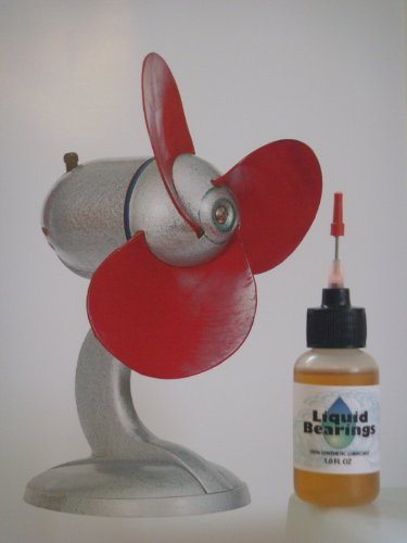 Liquid Bearings, SUPERIOR 100%-synthetic oil for table fans, ceiling fans, box fans, portable fans, to keep indoor or outdoor fans operating smoothly and reliably!!