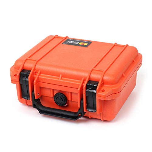 Pelican 1200 Colors Series. Orange with Black Handle & latches. with Foam.
