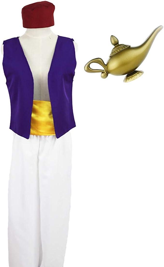 Disfraz de Aladdin para Hombre Adulto Cosplay Escenario Aladdin ...