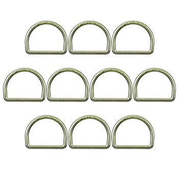 Image of Belay & Rappel Equipment FUSION Climb Moc 4' Drop Forged Heavy Duty Carbon Steel D-Ring Gold for 3' Webbing 10-Pack