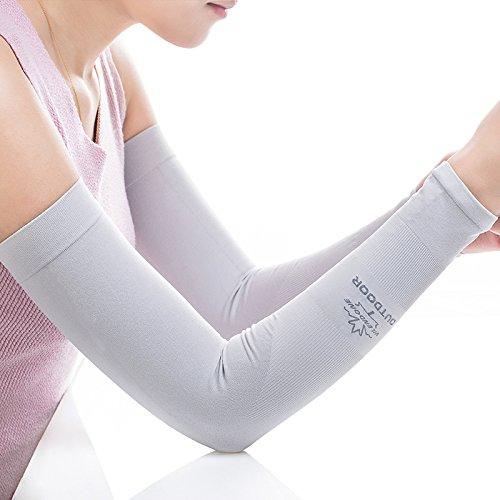 GOOACC  アームカバー セミロング  紫外線対策 UVカット率95%  吸水速乾機能 抗菌防臭 軽量設計