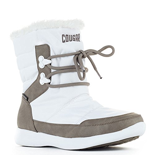 Cougar Shoes Womens Wonder Snow Boots White Visage Nylon