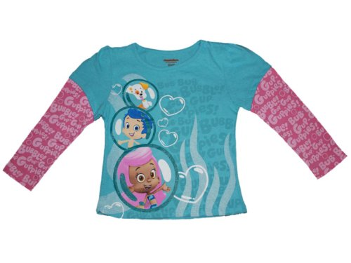 Nick Jr. Bubble Guppies Long Sleeve Little Girls Shirt (4T) by Nickelodeon