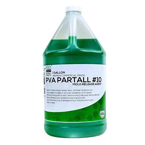 PVA PARTALL #10 LIQUID EASY CASTING MOLD RELEASE, PREMIUM PROFESSIONAL QUALITY, Diy Resin Fiberglass Mold Release For Silicone & Resin Casting Molds, 1 Gallon ()