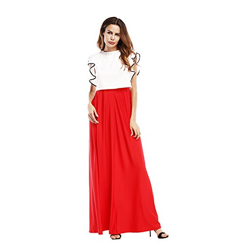 Kleid rot lang schlitz
