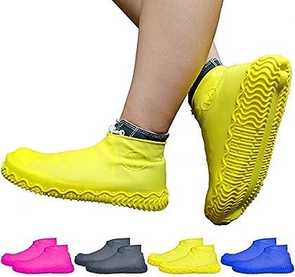 Jiadi Cubiertas impermeables para zapatos Reutilizables antideslizantes Cubiertas impermeables a prueba de lluvia para actividades de actividades al aire libre