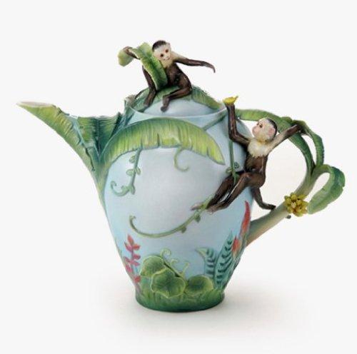 Franz Porcelain Jungle Fun Monkey Teapot