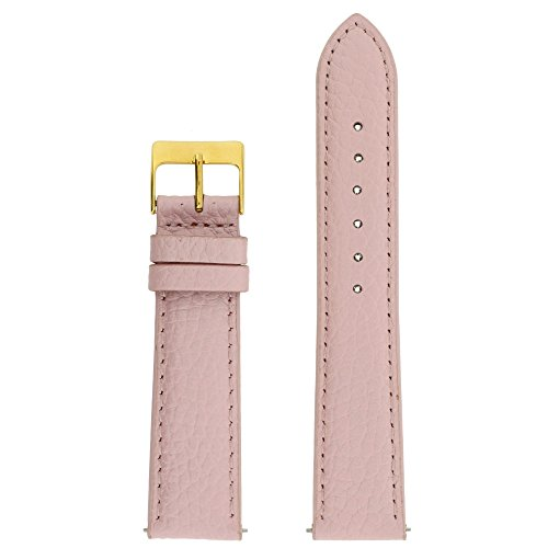 Watch Band Genuine Leather Pink 16 millimeters (Pink Leather Band)
