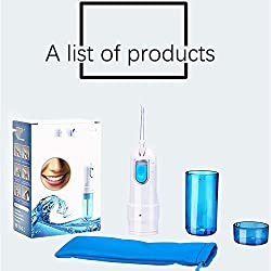 Tooth Cleaner Water Flossing Jet Tips For Home Cordless Water Flosser Teeth Cleaner, Rechargable Portable Oral Irrigator , Braces & Bridges Care, IPX7 Waterproof Power Dental Flossers ( Color : Blue )