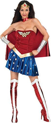 Secret Wishes Deluxe Wonder Woman Costume, Blue/Red, X-Small