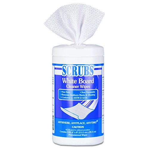 Price comparison product image SCRUBS 90891 White 8 x 6 Cloth White Board Cleaner Wipes (Canister of 120)