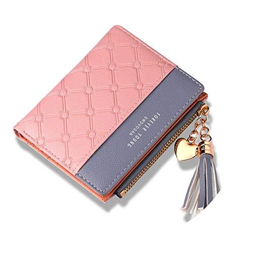 2018 New Women's Fashion Wallet Female Purse Zip Hasp Soft Leather Double Color Wallets