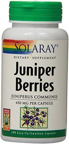 Berries Capsules Juniper 100 - Solaray Juniper Berries Capsules, 450 mg, 100 Count