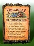 Trippies Hillbillly Redneck 10 Commandments Plaque