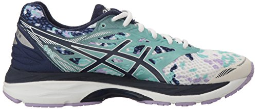 Pictures of ASICS Women's Gel-Cumulus 18 running Shoe Asics Blue/Silver/Safety Yellow 3