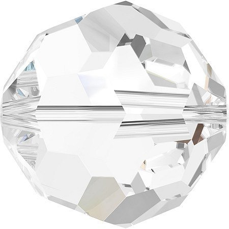 Swarovski Crystal 5000 8mm Clear Faceted Round Beads - 12 -
