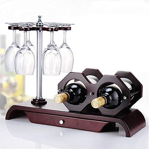 ワイングラスラック ワイングラスは、ワイングラス乾燥はソリッドウッドクリエイティブワインディスプレイラックのアイデアをラックラック ステムウェアラック (色 : 褐色, Size : 47x37.7x18cm)
