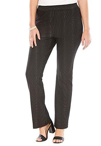 Women's Plus Size Studio Collection Bootcut Ponte Pants Pinstripe,16 W