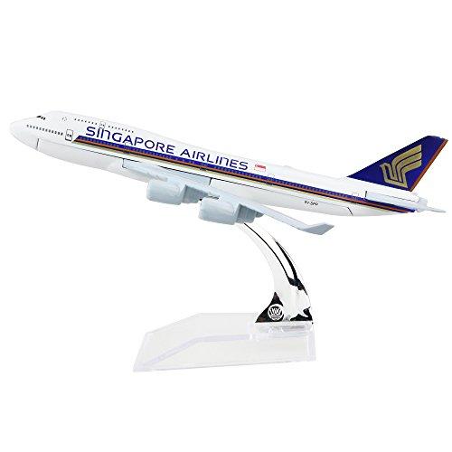 24 Hours Singapore Airlines Boeing 747 Alloy Metal Model Aircraft Die Cast 1 400