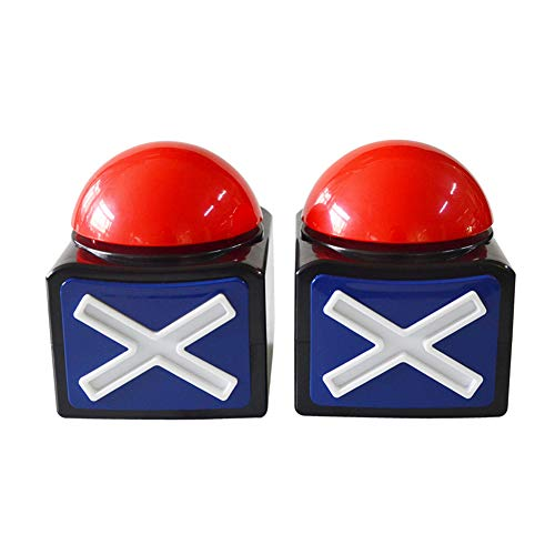 Kids Adult Game Answer Buzzer Alarm Button Box with Sound Light Party Contest Prop Toy ()