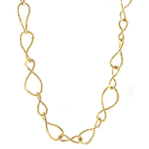 61.0 Centimetres 14k Yellow gold Textured Links Finish Matt Irregular Twisted Necklace  Length Options  41 46 61 86