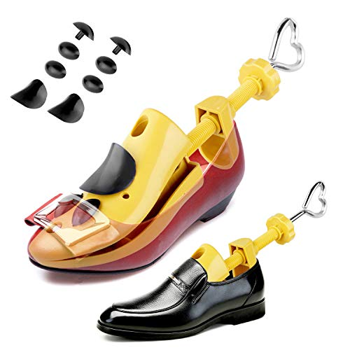2-Way Shoe Stretcher Adjustable Instep & Length Shoe Shaper for Men and Women Heart Shaped Handle Shoe Tree Size 8.5-11.5 (1 Pair) ()