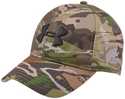 Under Armour Men's Camo Stretch Fit Cap, Ua Forest Camo (940)/Black, Large/X-Large (Under Armour Jacket Camo Mens)